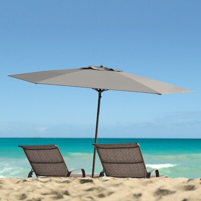 Meadowbrook 7.5 Deluxe Beach Umbrella Fabric: Sand Gray