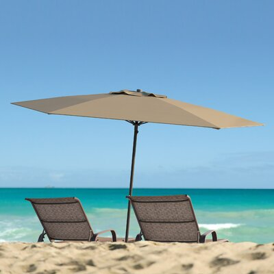 Meadowbrook 7.5 Deluxe Beach Umbrella Fabric: Sandy Brown