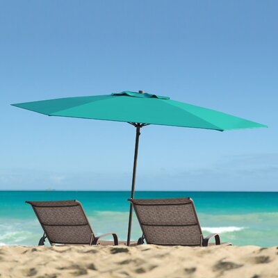 Smithmill 7.5 Deluxe Beach Umbrella Fabric: Turquoise Blue