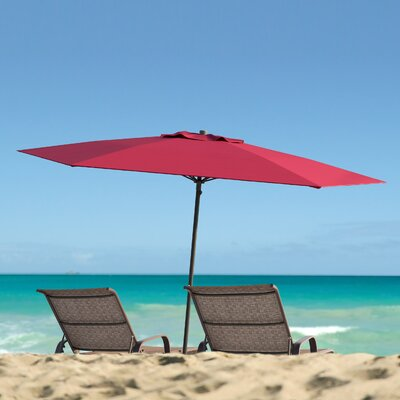 Meadowbrook 7.5 Deluxe Beach Umbrella Fabric: Wine Red