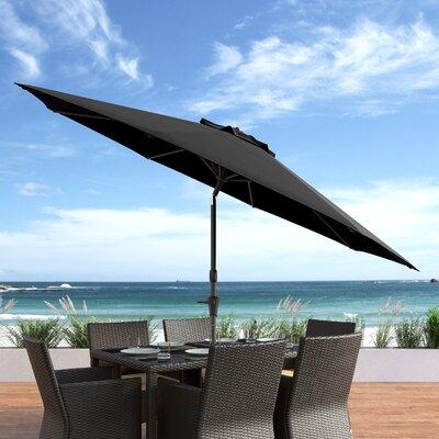 10 Burnham Deluxe Tilting Patio Cantilever Umbrella Fabric: Black