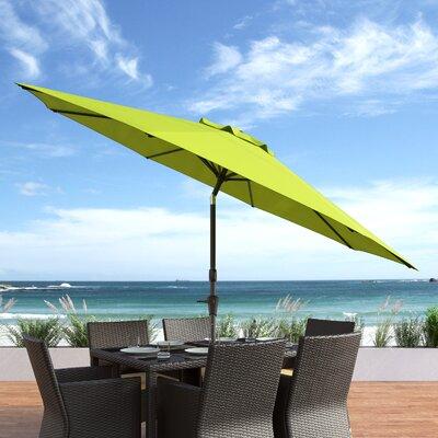 10 Burnham Deluxe Tilting Patio Cantilever Umbrella Fabric: Lime Green