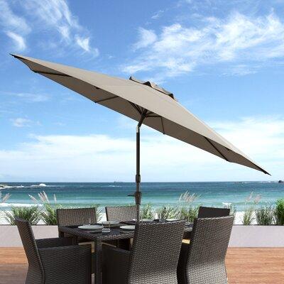 10 Burnham Deluxe Tilting Patio Cantilever Umbrella Fabric: Sand Gray
