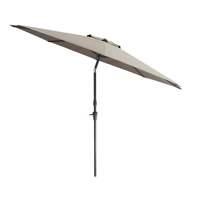 10 Markley Deluxe Tilting Patio Cantilever Umbrella Fabric: Sand Gray