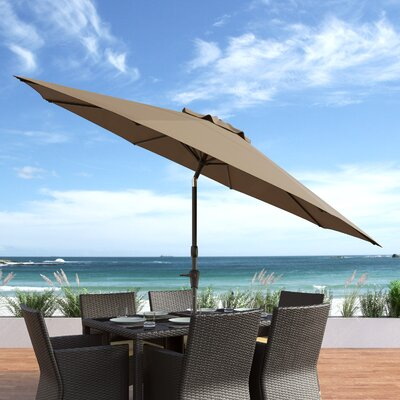 10 Burnham Deluxe Tilting Patio Cantilever Umbrella Fabric: Sandy Brown