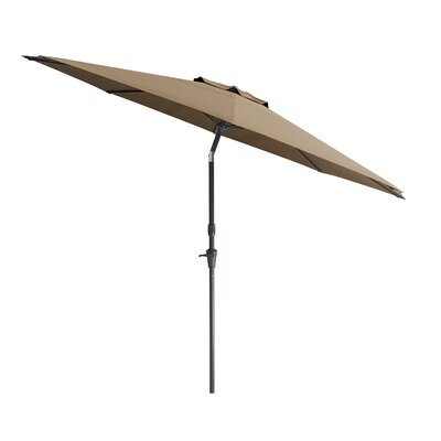 10 Markley Deluxe Tilting Patio Cantilever Umbrella Fabric: Sandy Brown