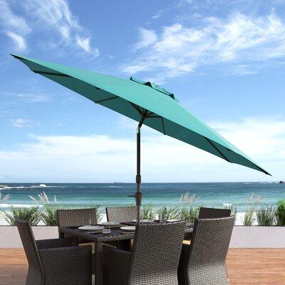 10 Burnham Deluxe Tilting Patio Cantilever Umbrella Fabric: Turquoise Blue