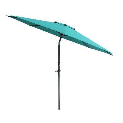 10 Markley Deluxe Tilting Patio Cantilever Umbrella Fabric: Turquoise Blue