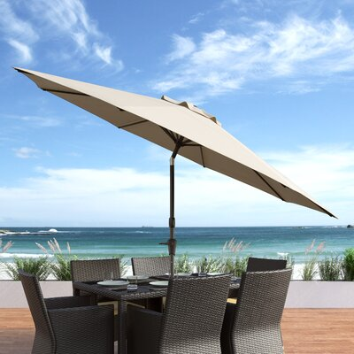 10 Burnham Deluxe Tilting Patio Cantilever Umbrella Fabric: Warm White