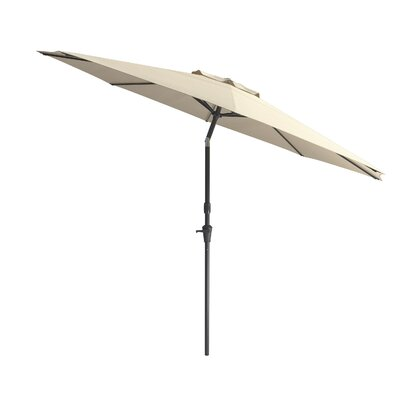 10 Markley Deluxe Tilting Patio Cantilever Umbrella Fabric: Warm White