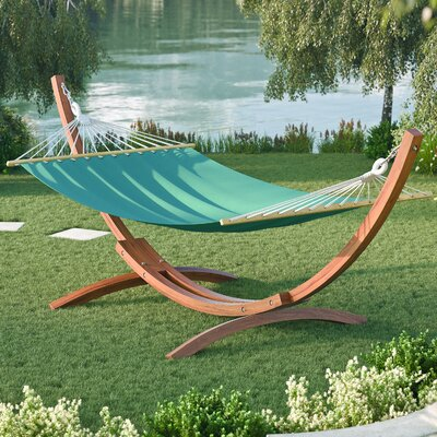Murphy Free-Standing Patio Hammock with Stand Color: Teal