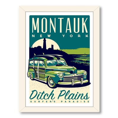 Montauk Woody Framed Vintage Advertisement
