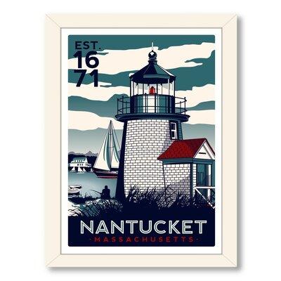 Breakwater Bay Nantucket II Vintage Advertisement on Canvas