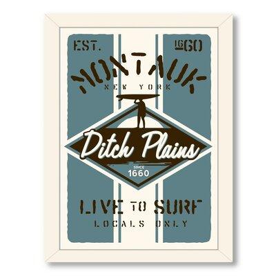 Montauk Surf Framed Vintage Advertisement