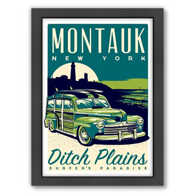Montauk Framed Vintage Advertisement