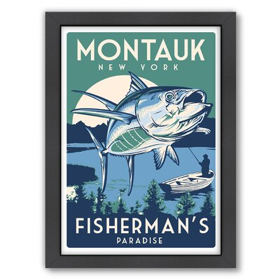 Breakwater Bay Montauk Fish Framed Vintage Advertisement