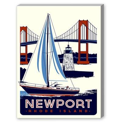 Newport Vintage Advertisement Canvas Print