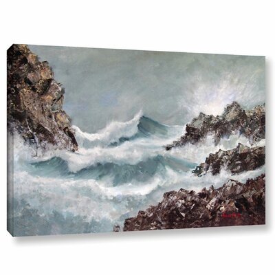 'Seascape' Print on Wrapped Canvas Size: 12