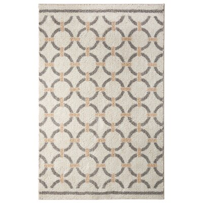 Elmwood Linked Circles Beige/Tan Area Rug Rug Size: 5 x 7