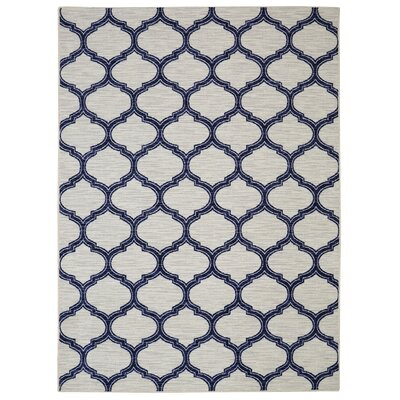 Whitherspoon Navy/Cream Area Rug Rug Size: 5' x 7'