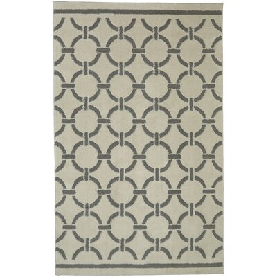 Stonehurst Stitched Circles Cream/Gray Area Rug Rug Size: Rectangle 8 x 10