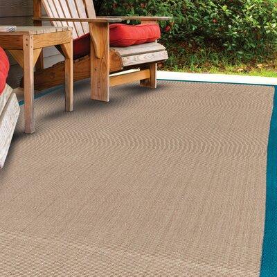Ivydale Hand-Woven Aqua Indoor/Outdoor Area Rug Rug Size: 8 x 10