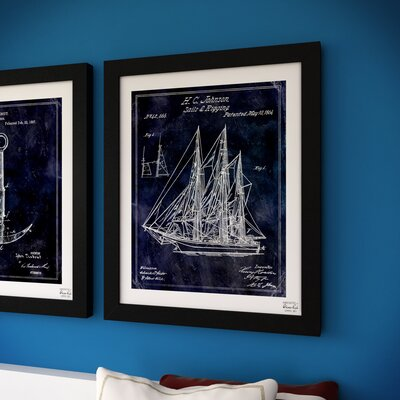 Breakwater Bay Sail And Rigging 1864 Framed Graphic Art