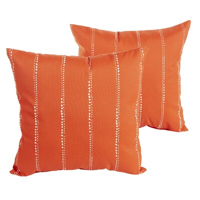 Berwyck Dot Stripes Indoor/ Outdoor Throw Pillow Size: 18