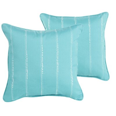 Balentine Striped Indoor/Outdoor Throw Pillow Size: 18 H x 18 W x 6 D