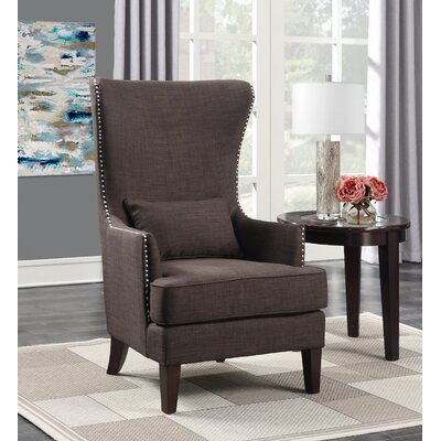 Cavender Wingback Chair Upholstery: Chocolate