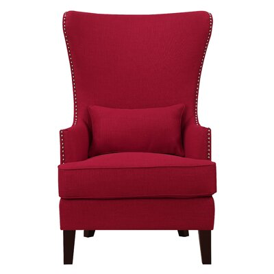 Cavender Wingback Chair Upholstery: Berry - Red