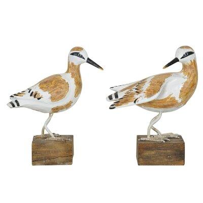 2 Piece Shore Bird Figurine Set