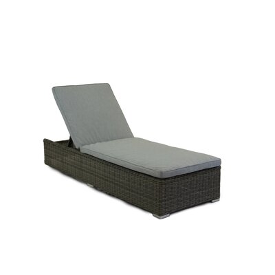 Greendale Chaise Lounge with Cushion Fabric: Granite