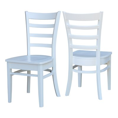 Bloomfield Solid Wood Dining Chair Color: White