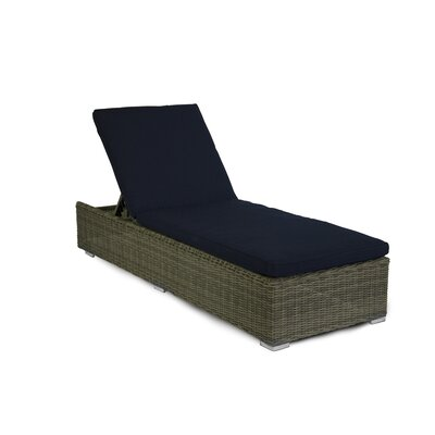 Greendale Chaise Lounge with Cushion Fabric: Navy