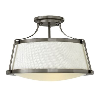 Chipley 3-Light Semi Flush Mount Finish: Antique Nickel
