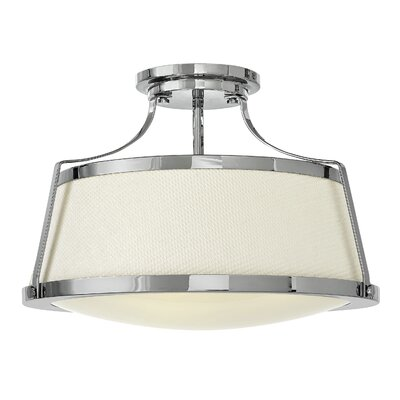 Chipley 3-Light Semi Flush Mount Finish: Chrome