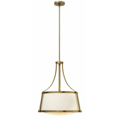 Chipley 3-Light Pendant Finish: Brushed Caramel, Size: 24.75 H x 20 W x 20 D
