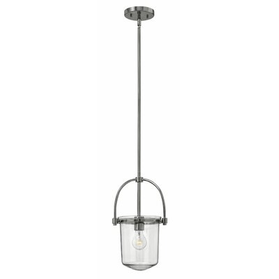 Bolton 1-Light Mini Pendant Color: Polished Nickel