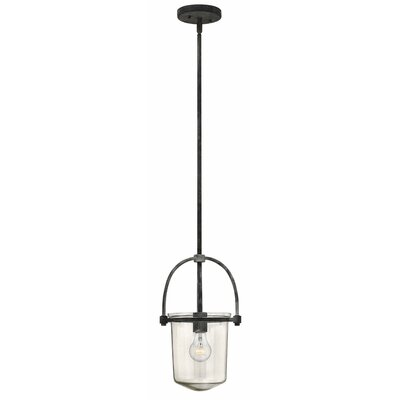 Bolton 1-Light Mini Pendant Color: Aged Zinc