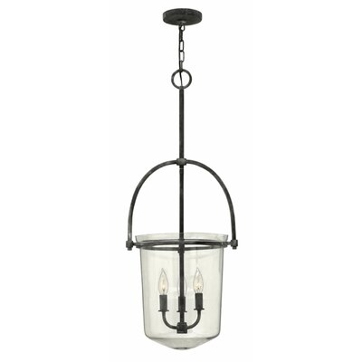 Bolton 3-Light Foyer Pendant Color: Aged Zinc