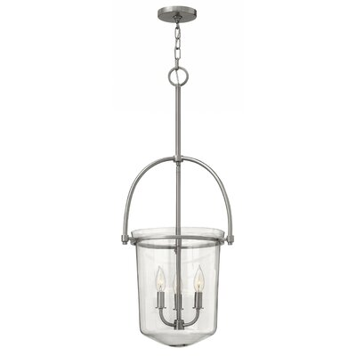 Bolton 3-Light Foyer Pendant Finish: Brushed Nickel