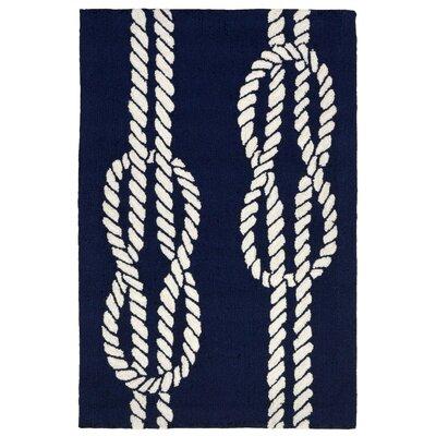 Orinda Hand-Tufted Navy Blue Indoor/Outdoor Area Rug Rug Size: 2 x 3