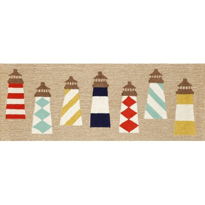 Walton Lighthouses Area Rug Rug Size: Runner 23 x 6