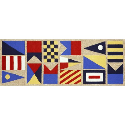 Walton Signal Flags Area Rug Rug Size: Runner 2'3