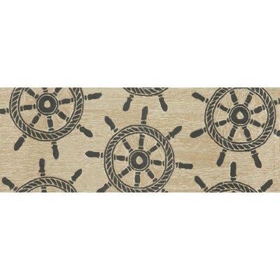 Walton Ship Wheel Neutral Indoor/Outdoor Area Rug Rug Size: Runner 23 x 6
