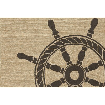 Walton Ship Wheel Doormat Color: Neutral