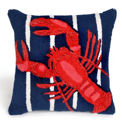 Walton Lobster on Stripes Throw Pillow