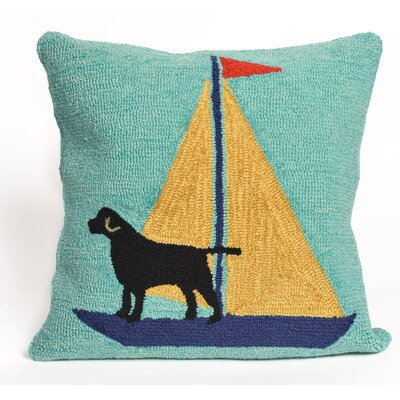 Walton Sailing Dog Throw Pillow