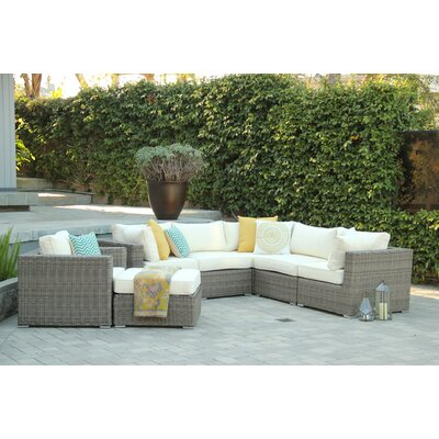 Greendale 7 Piece Deep Seating Group with Cushion Fabric: Oyster